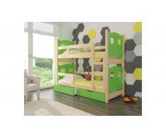 JUSTyou Maraba Kinderbett 160x188x81 cm Kiefer Grün