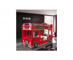 JUSTyou Benin Busbett Rot HxBxL 132x96x215 cm