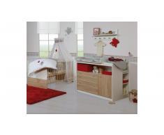 JUSTyou Lars Kinderzimmer-Set mit Funktionsbett Weiß