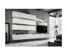 JUSTyou Fli J1 Wohnwand Weiß Matt | Weiß Hochglanz