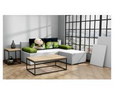 JUSTyou Seto+Hocker Einzelsofa Strukturstoff Grau Grün