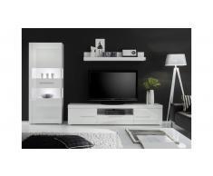 JUSTyou Santorini Wohnwand Weiß | Weiß Hochglanz