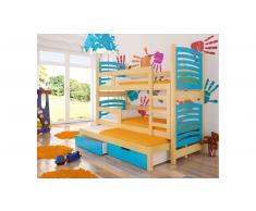 JUSTyou Soria Kinderbett 160x188x81 cm Kiefer Blau