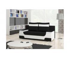 JUSTyou Area Sofa 95x200x73 cm Weiß Schwarz