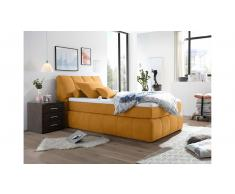JUSTyou Pierre Boxspringbett Velours 180 Orange