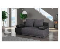 JUSTyou Roma Sofa 95x200x90 cm Schwarz Grau