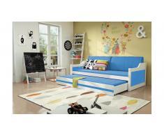 JUSTyou Tore Funktionsbett 90x200 cm Weiß Blau