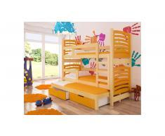 JUSTyou Soria Kinderbett 160x188x81 cm Kiefer Orange