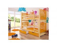 JUSTyou Osuna Kinderbett 160x188x81 cm Kiefer Orange