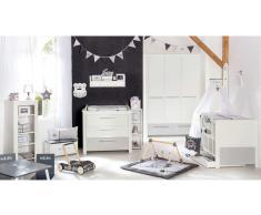 JUSTyou Oluf Kinderzimmer-Set mit Funktionsbett Weiß