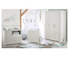 JUSTyou Simon Kinderzimmer-Set mit Funktionsbett Weiß