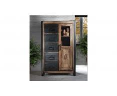 JUSTyou Manar Highboard Sheesham Schwarz