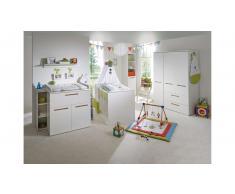 JUSTyou Crister Kinderzimmer-Set mit Funktionsbett Weiß