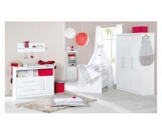 JUSTyou Per Kinderzimmer-Set mit Funktionsbett Weiß