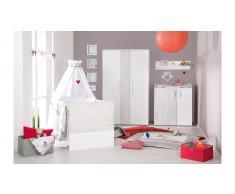 JUSTyou Albin Kinderzimmer-Set mit Funktionsbett Weiß