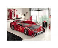 JUSTyou Tripoli Autobett Rot HxBxL 59x100x225 cm