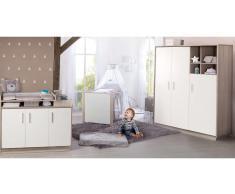 JUSTyou Ralph Kinderzimmer-Set mit Funktionsbett Weiß