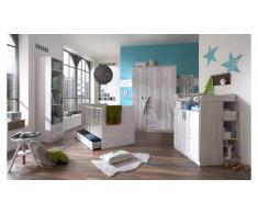 JUSTyou Jasmin Kinderzimmer-Set Eiche Bianco