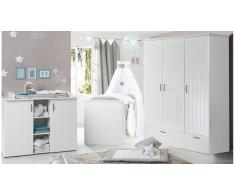 JUSTyou Felix Kinderzimmer-Set mit Funktionsbett Weiß