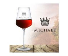 Monsterzeug - Weinglas mit Gravur - König Krone