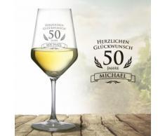 Monsterzeug - Weißweinglas zum 50. Geburtstag