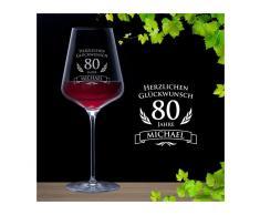 Monsterzeug - Weinglas zum 80. Geburtstag