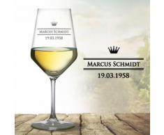 Monsterzeug - Weißweinglas mit Gravur - Royal