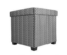 Echtwerk EW-OC-0430 Sitzwürfel Outdoor Cube Rattan, Sitzhocker, 37,5 x 37,5 x 37 cm, grau