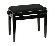 Klavierbank schwarz, höhenverstellbar