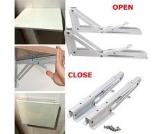 Dreieckige Klapphalterung Metall Release Catch Support Bank Tisch Klappregal Halterung Wand Selbsttragender Rahmen 2St