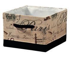 KESPER 19511 Aufbewahrungskorb Paris aus Textil, 29,5 x 29,5 x 21,5 cm