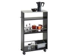 Demeyere Coffee Küchenwagen, Spanplatte, schwarz, 50 x 24 x 83 cm