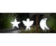 8 seasons design | Dekorationsleuchte Engel, Shining Angel Mini (E27, 40 cm, Tischleuchte, Weihnachtsdekoration Garten & Wohnzimmer) weiß
