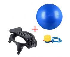TangMengYun Balance Ball Chair Übung Stabilität Yoga Ball Premium Ergonomischer Stuhl für Zuhause und Büro mit Luftpumpe (Color : Blue)