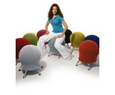 Topstar Sitness 5, Fitnesshocker mit Gymnastikball, Sitzalternative, blau