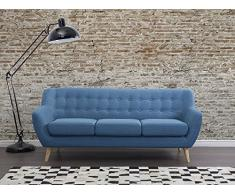 Sofa Blau - Couch - Stoffsofa - Designersofa - MOTALA