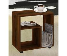 VCM 911273 Beistelltisch Zeito Zeitungsständer, Couchtisch, Nachttisch, 55 x 50 x 30 cm, buche