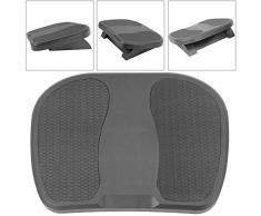 PrimeMatik - Fussstütze Fussauflage mit verstellbarer Plattform aus schwarzer Farbe Kunststoff 450 x 330 mm