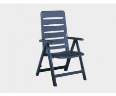 Kettler bequemer Klappstuhl Nizza für Terrasse, Garten und Balkon - 4-fach verstellbarer Gartenstuhl aus recycelbarem Kunststoff - wetterfester und UV-beständiger Multipositionssessel - weiß