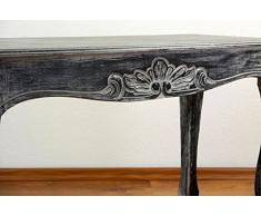 Balinesischer Couchtisch | Opiumtisch | Asiatische Möbel der Marke Asia Wohnstudio | Sofatisch | Kaffeetisch | Beistelltisch (Handarbeit) (schwarz-weiß)