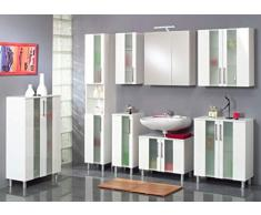 Kesper Badmöbel 6235000763801002 Midischrank Trento, 2 Türen, 111 x 65 x 31,3 cm, weiß / weiß