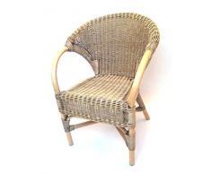 Sessel/Stuhl Rattansessel aus Peddigrohr, Modell Quebec antik gebeizt