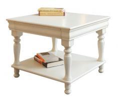 Couchtisch Louis Philippe quadratisch mit Schublade und Einlegeboden