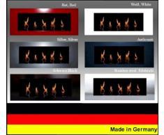Gel- und Ethanolkamin Kamin Modell Daniel - Wählen Sie die Farbe (Silber)