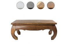 Couchtisch 100 x 50cm Opiumtisch Wohnzimmer Massiv Beistelltisch Hocker Holz Tisch Hellbraun