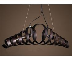 Vi Xixi LED Pendelleuchte Moderne Acryl Kronleuchter Kreative  Höhenverstellbare Drei Ringe Pendellampe Hängeleuchte Warme Farben