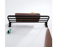 Schwarzes B & B Handtuchhalter Platz Aluminiumregale Yahei Einzelhandtuchhalter Hotel Einfaches Klappregal , 40cm
