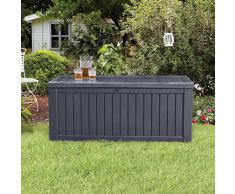 Keter Rockwood Kissenbox 570 Liter l Wasserdicht l Witterungsbeständig