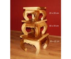 Asiatischer Opiumtisch, Beistelltisch aus Massivholz der Marke Asia Wohnstudio, asiatischer Couchtisch, Nachttisch, Massivholz Möbel, (36cm)