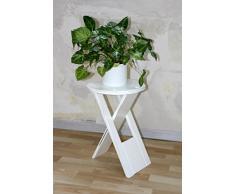 Casa Massivholz Hocker Klapphocker weiß antik Blumenhocker Nachttisch Beistelltisch